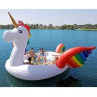 Giant Pool Unicorn Inflatable Water Boat / Inflatable Floating Sofa Manufactures