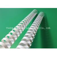 White 28 mm Plastic Binding Combs 21 Rings 50Pcs / Box For Easy Reading Manufactures