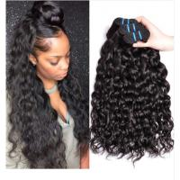 China Soft 100 Brazilian Human Hair Extensions / Curly Hair Bundles With Closure on sale