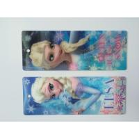 3D Hologram Frozen 3D Lenticular Custom Plastic Bookmarks With Tassel For 0.6 mm PET Thickness Manufactures