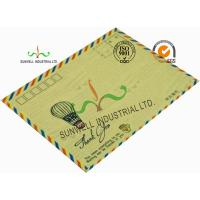 Standard Size Kraft Paper Custom Printed Envelopes With UPC Barcode Printing for sale