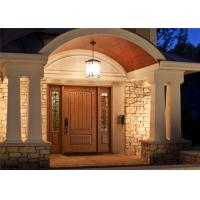 Teak Solid Wood Doors , Solid Wood Front Entry Doors Painting Surface Treatment Manufactures