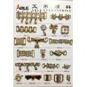 Gold Shoe Chain Accessories Zinc Alloy Buckle For Flip Flops Shoes Manufactures