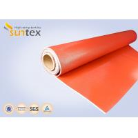 0.7 mm Thickness Silicone Coated Fiberglass Cloth For Fire Curtains And Fire Door Manufactures