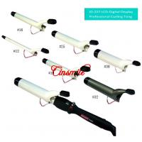 White Digital Tourmaline Ceramic Curling Iron For Short/Long Hair Portable 100v Manufactures