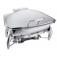 Quality Fan-Shaped Stainless Steel Food Warmer Induction Chafing Dish Optional 5L or 8L for sale