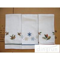Lightweight Kitchen Tea Towels Good Water Absorbent Machine Washable Manufactures