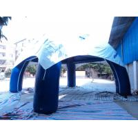 0.45mm PVC Tarpaulin Four Legs Inflatable Spider Tent  Blue for Outdoor Exhibition Manufactures
