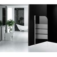 Serigraph Glass Bathtub Shower Screen , Aluminum Alloy Frame Frosted Shower Screen Manufactures
