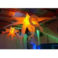 Event Ceiling Inflatable Stage Decoration LED Star Light With 210T Polyester Cloth Manufactures