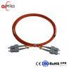 Duplex Fiber Optic Patch Cord Leads SC UPC To SC UPC Multimode LSZH Jacket Manufactures