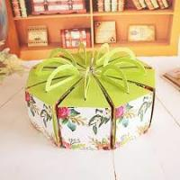 Recycled Round Decorated Cake Boxes Unique Pretty Personalized UV Coating Printing Manufactures