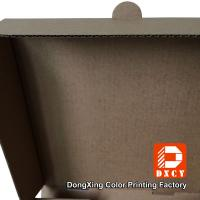 Quality Kraft Paper Plain Brown Pizza Packaging Boxes 6 Inch Square Shape Offset for sale