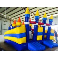 Children Inflatable Bouncy Castle Huge PVC Tarpaulin Reinforced Seams Manufactures