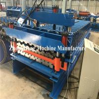 Double Deck Glazed Tile Roll Forming Machine With Hydraulic Motor Control 25m/Min Manufactures