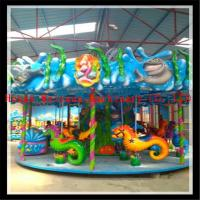 China new product rides Chrismas carnival park rides sea horse carousel on sale