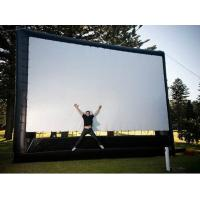 Fireproof Large Inflatable Movie Screen Advertising Tarpaulin PVC With Good Tension Manufactures