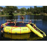 Customized PVC Tarpaulin Inflatable Water Slide Trampoline Pool For Adults / Kids Manufactures