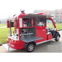 Public Electric Fire Engine With 2 Seater , Battery Powered Fire Fighting Truck Manufactures