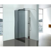 Grey Glass Bathroom Shower Enclosures With Stainless Steel Shower Column Panels Manufactures