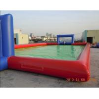 Colorful PVC Inflatable Sports Games Land Sports Soccer Field Manufactures