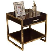 High end 5-STAR metal frame wooden night stand /bed side table, casegoods,hotel furniture NT-0088 Manufactures