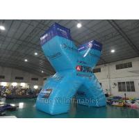 Digital Print Inflatable Paintball Bunkers With 0.6mm PVC Tarpaulin Material Manufactures