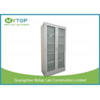 Metal Laboratory Cabinets With Glass Doors , Laboratory Sample Storage Cabinet Manufactures