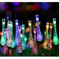 Quality 20 ft 30 LED Waterproof Ice Bar Solar Powered LED Fairy Lights For Valentine'S Day for sale