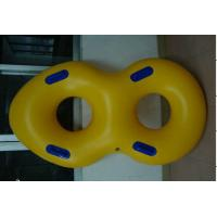 Yellow Double Circular Combination Inflatable Swim Ring , Baby Swimming Ring Manufactures