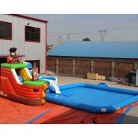 Manufacturer supply Outdoor inflatable pirate ship water pool, Mini inflatable water park for toddlers