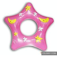 Star Shape Baby Inflatable Swimming Ring , Synchronized Children Swimming Floats Manufactures