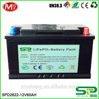 China 12V 60Ah LiFePO4 battery pack Replace SLA battery on sale