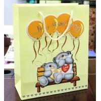 Recyclable 170gms Cartoon Customized Paper Bag With Matte Lamination Manufactures