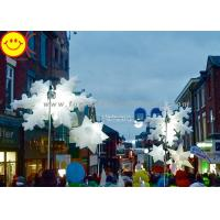 Large Christmas Inflatable Snowflake Multi Color Lighting Holiday Decorations Manufactures