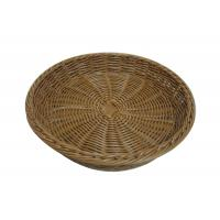 China Hand Woven Stackable Poly Rattan Basket Tray Oval For Food Display on sale