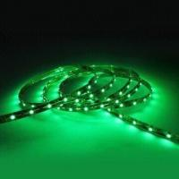 Low power consumption 12VDC 120 degree Green Ribbon LED Flexible Strip Lights Manufactures