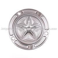 Custom Motorcycle Gas Cap CNC Machined With Aircraft Grade 6061-T6 Solid Aluminum Manufactures