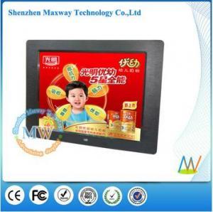 China LED backlit 12 inch desktop digital photo frame video on sale
