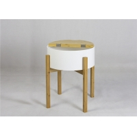 BSCI 48cm Height Round Wood Coffee Table For Bedroom Manufactures