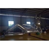 Event Show Inflatable Huge Mirror Cloth Inflatable Rabbit Silver Manufactures