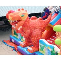 Quality Cheap Kids Big Dinosaur Playground Giant Inflatable Bouncer Castle House With Slide For Children Sale for sale