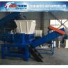 High quality two shaft shredding machine PE PP plastic crusher Plant Waste film Shredder tire crusher shreeder machinery Manufactures