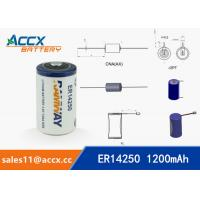 ER14250 3.6V 1.2Ah 1/2AA lithium battery Manufactures