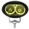 6500k Amber Led Vehicle Work Light 2000lm / 20w 4 Inch Led Work Lights For Trucks Manufactures