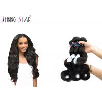 Three Brazilian Body Wave Unprocessed Hair / No Shedding Unprocessed Curly Human Hair Manufactures