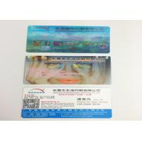 OEM PP / PET 3D Lenticular Business Cards , 3D Printing Business Cards Manufactures