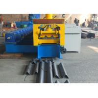 Type 310 Gear Driven Highway Guardrail Roll Forming Machine 37kw Reducer Power And GCr15 Roller Manufactures