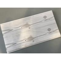 Flat 25cm Waterproof Wall Panels Wooden Pattern With Double Silver Lines Manufactures