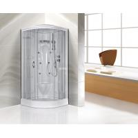 Quality Transparent Glass Corner Shower Cabins , Corner Entry Shower Enclosure for sale